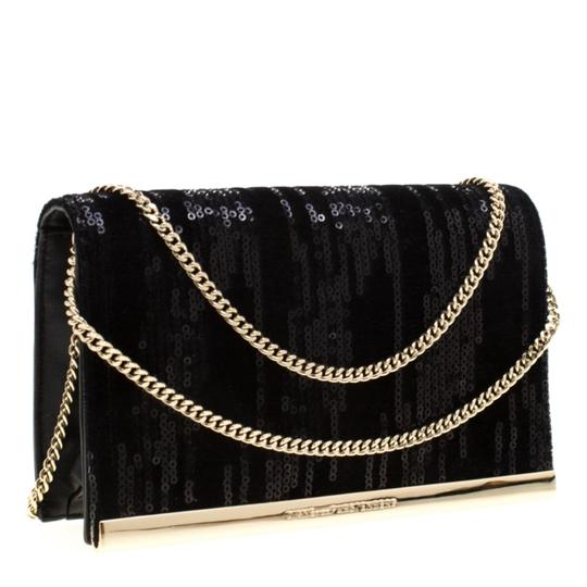 Diane von Furstenberg Embellished Suede Leather Chain Shoulder Bag Image 3