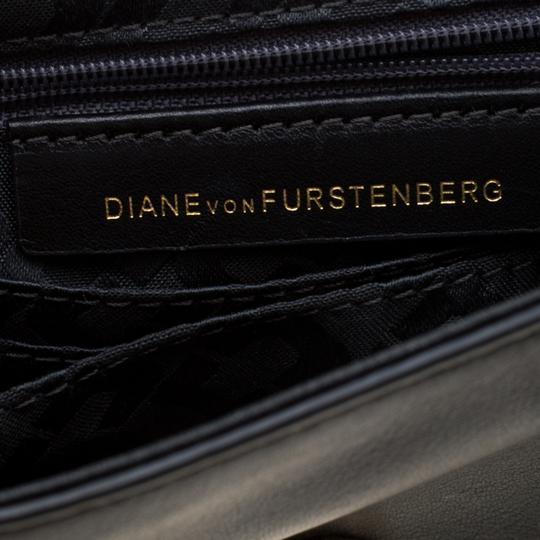 Diane von Furstenberg Embellished Suede Leather Chain Shoulder Bag Image 8