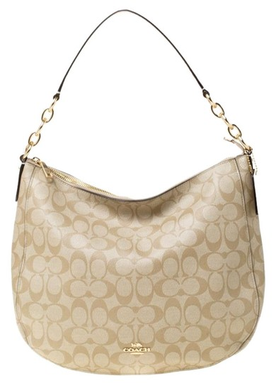 Preload https://img-static.tradesy.com/item/25892405/coach-signature-canvas-and-elle-beige-leather-hobo-bag-0-1-540-540.jpg