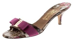 Salvatore Ferragamo Leather Multicolor Sandals
