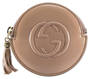 Gucci Dark Beige Patent Leather Soho Coin Purse