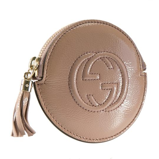 Gucci Dark Beige Patent Leather Soho Coin Purse Image 5