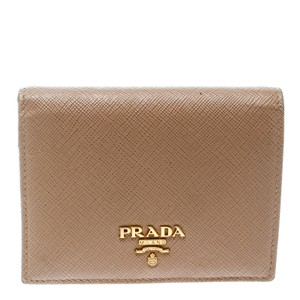 Prada Light Brown Saffiano Lux Leather Bifold Wallet - item med img