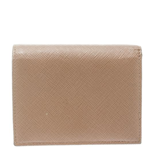 Prada Light Brown Saffiano Lux Leather Bifold Wallet Image 1