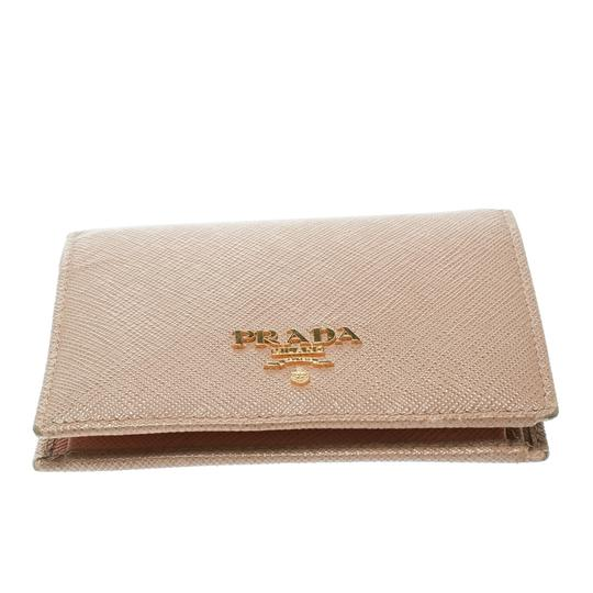 Prada Light Brown Saffiano Lux Leather Bifold Wallet Image 3