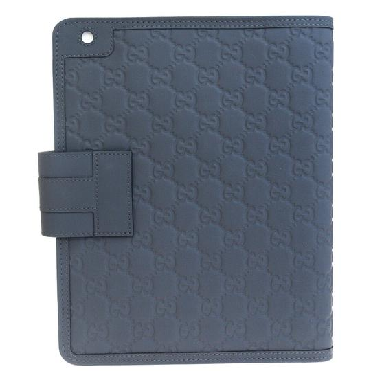 Gucci GUCCI Logos Sherry GG Pattern ipad Tablet Case Gray Leather Italy Image 2