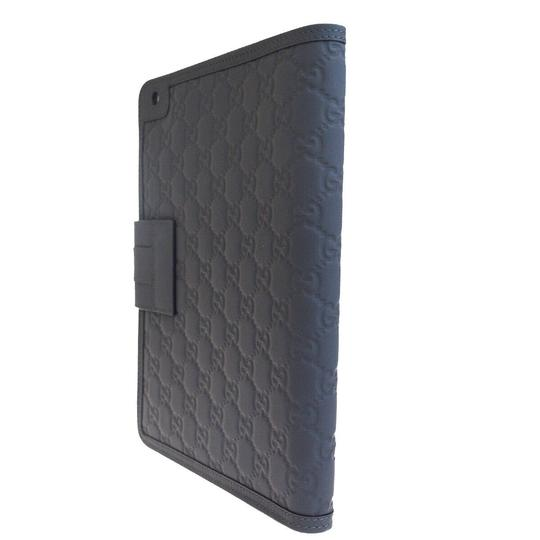 Gucci GUCCI Logos Sherry GG Pattern ipad Tablet Case Gray Leather Italy Image 3