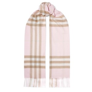 Burberry checked fringe cashmere scarf