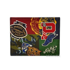 Polo Ralph Lauren Navy/Red Multi Limited Edition Print Leather Card Case Men's Jewelry/Accessory