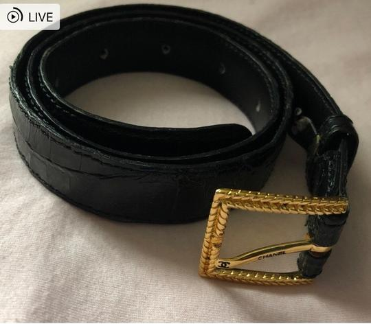Chanel Chanel crocodile black square gold buckle Image 1