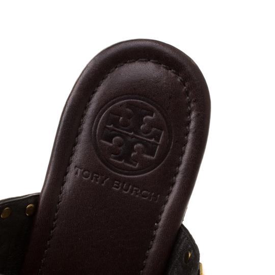 Tory Burch Leather Wedge Brown Sandals Image 6