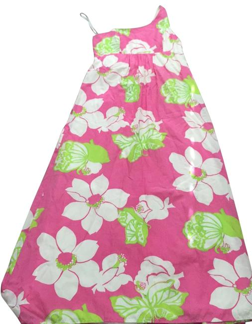 Item - Multicolor/ Pink/Green/Off White 74825 Long Casual Maxi Dress Size 10 (M)