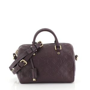 Louis Vuitton Speedy Bandouliere Empreinte purple Travel Bag