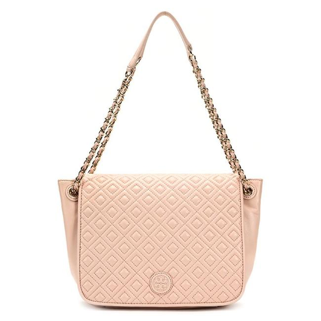 Item - Marion Quilted Small Flap Pink Lambskin Leather Shoulder Bag