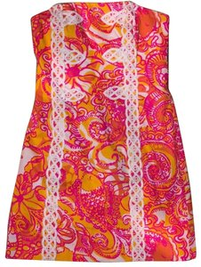 Lilly Pulitzer short dress Pink, Orange, Yellow, White on Tradesy