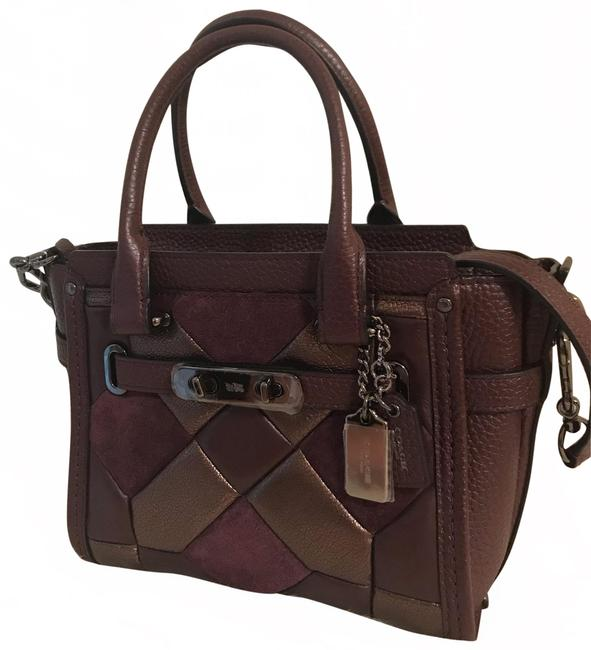 Item - Swagger 21 Bronze Canyon Quilt Mixed Oxblood Leather Messenger Bag