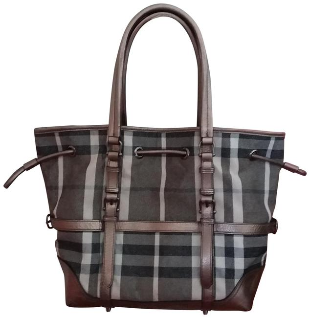 Item - Plaid Gray Silver Canvas Tote