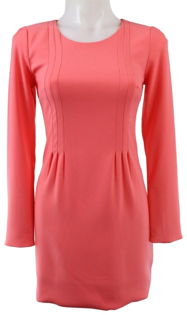 Item - Pink Coral Long Sleeve Sheath Short Casual Dress Size 4 (S)