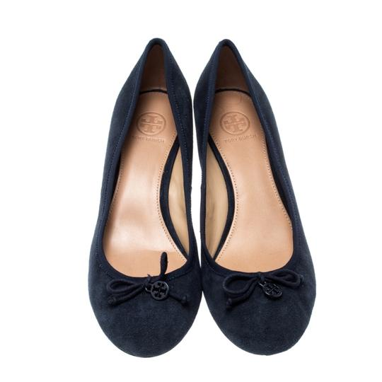 Tory Burch Suede Leather Blue Pumps Image 1