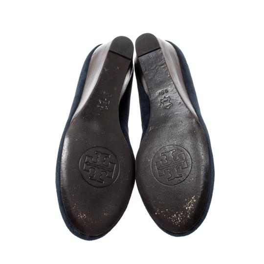Tory Burch Suede Leather Blue Pumps Image 3