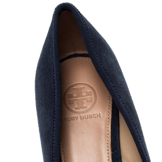 Tory Burch Suede Leather Blue Pumps Image 5