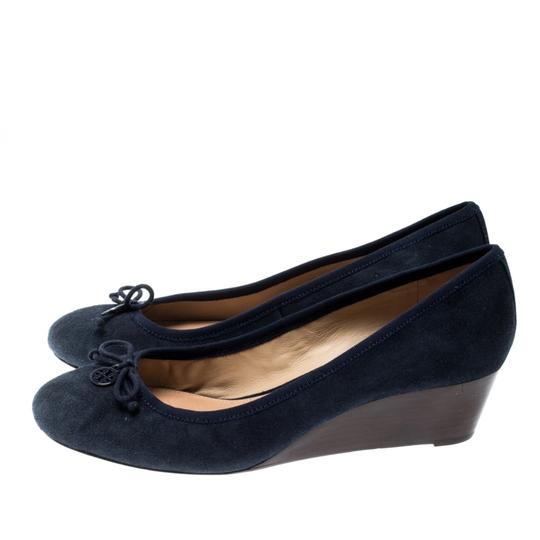 Tory Burch Suede Leather Blue Pumps Image 6