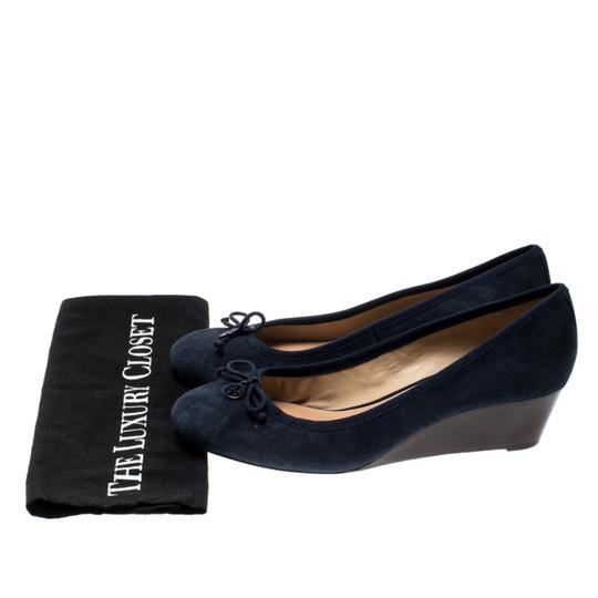 Tory Burch Suede Leather Blue Pumps Image 7