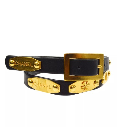 Chanel Chanel Camellia flower, cc logo 18k gold plated Image 2