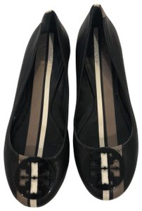 Tory Burch striped black, tan and cream flat Flats