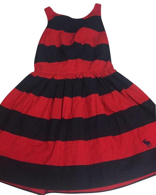 Item - Black and Red Strip Mid-length Short Casual Dress Size 4 (S)
