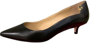 Tory Burch Office Classic Pointed Toe Kitten Heel New Black Pumps