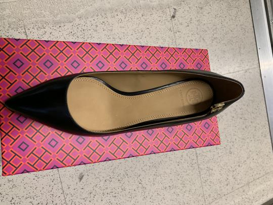 Tory Burch Office Classic Pointed Toe Kitten Heel New Black Pumps Image 2
