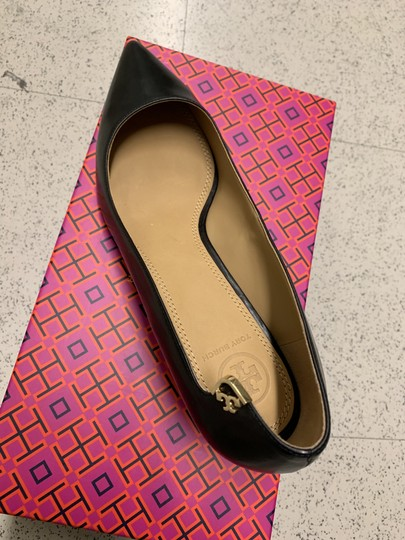 Tory Burch Office Classic Pointed Toe Kitten Heel New Black Pumps Image 3