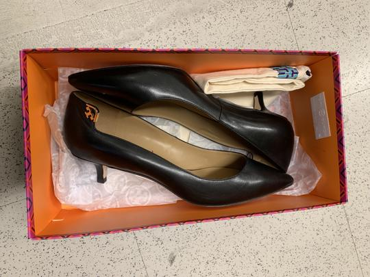 Tory Burch Office Classic Pointed Toe Kitten Heel New Black Pumps Image 4