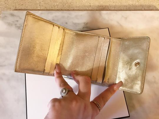 Chanel Rare Metallic Champagne Gold Patent Leather Compact Wallet Image 7