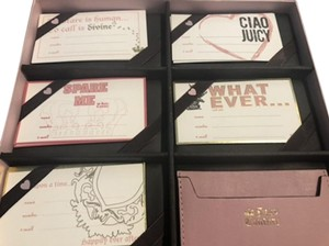 Juicy Couture Calling Cards 20 in box with Card Case Pink New in Box