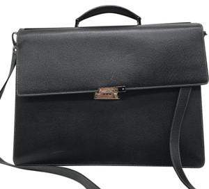 Salvatore Ferragamo Black Messenger Bag