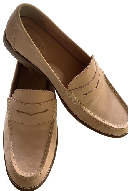 Item - Beige Leather Penny Loafers Flats Size US 9.5 Regular (M, B)