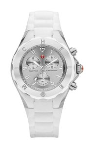 Michele Silicone Stainless Chronograph Tahitian Jelly MWW12F000032 Watch