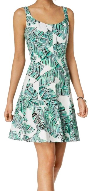 Preload https://img-static.tradesy.com/item/25895585/nine-west-multicolor-floral-tropical-a-line-new-short-casual-dress-size-14-l-0-1-650-650.jpg