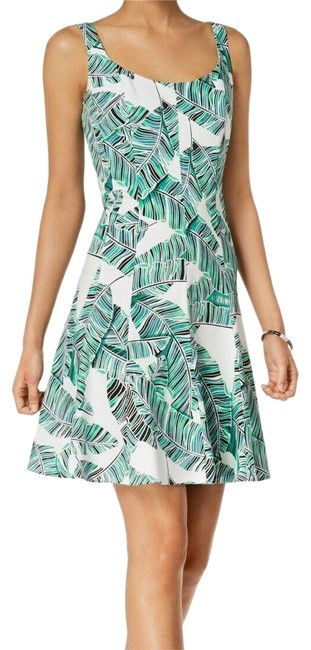 Preload https://img-static.tradesy.com/item/25895635/nine-west-multicolor-floral-tropical-fit-flare-new-short-casual-dress-size-12-l-0-1-650-650.jpg