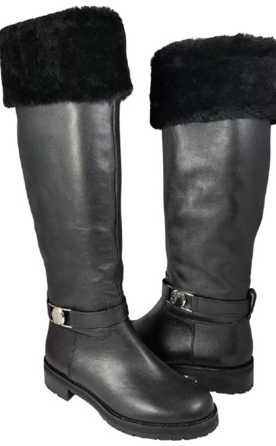Versace Collection Leather Shearling