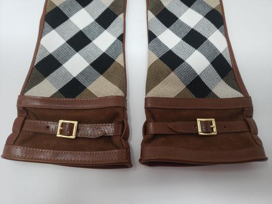 Burberry Brown multicolor leather Burberry Nova Check gloves 6.5 sz Image 11