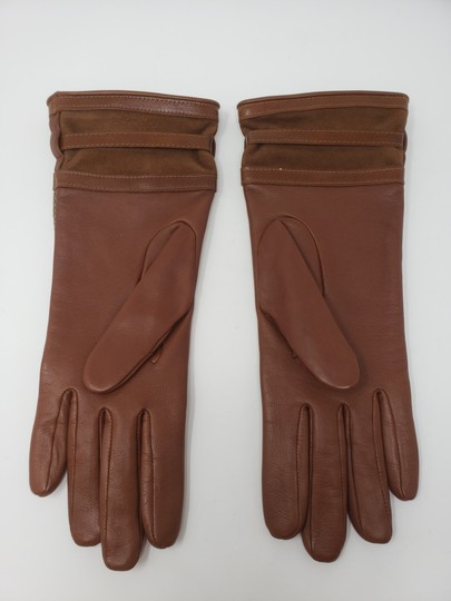 Burberry Brown multicolor leather Burberry Nova Check gloves 6.5 sz Image 6