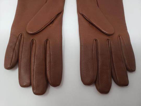 Burberry Brown multicolor leather Burberry Nova Check gloves 6.5 sz Image 7
