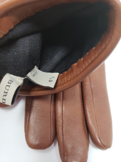 Burberry Brown multicolor leather Burberry Nova Check gloves 6.5 sz Image 8