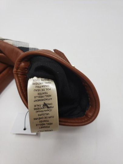 Burberry Brown multicolor leather Burberry Nova Check gloves 6.5 sz Image 9