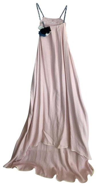 Item - Pale Pink with Varied Blue Strap and Flower Beach Cover-up/Sarong Size 8 (M)
