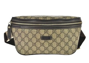 Gucci Unisex Travel Vacation brown Messenger Bag