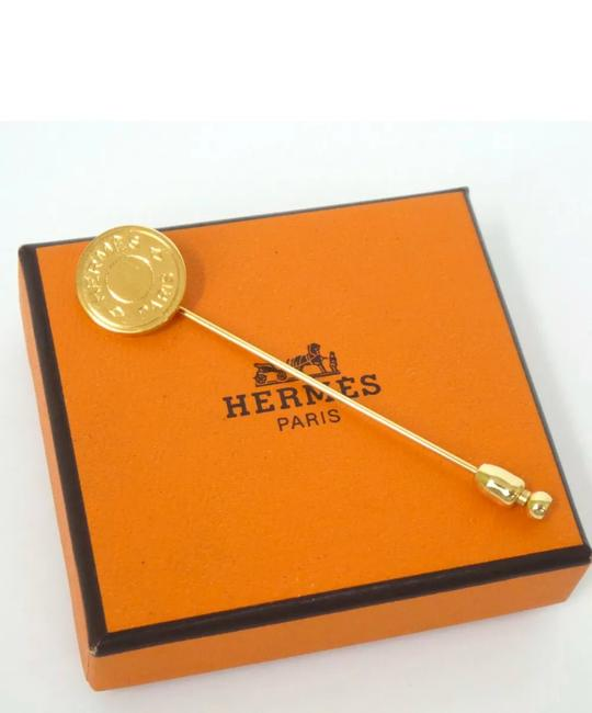 Hermès Gold Plated Pin Brooch Hermès Gold Plated Pin Brooch Image 1